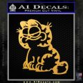 Garfield Decal Sticker Sitting Gold Vinyl 120x120