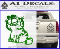 Garfield Decal Sticker Sitting Green Vinyl Logo 120x97