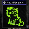 Garfield Decal Sticker Sitting Lime Green Vinyl 120x120