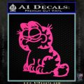 Garfield Decal Sticker Sitting Pink Hot Vinyl 120x120