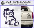 Garfield Decal Sticker Sitting PurpleEmblem Logo 120x97