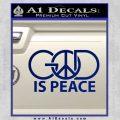 God Is Peace Decal Sticker Blue Vinyl 120x120
