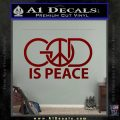 God Is Peace Decal Sticker DRD Vinyl 120x120
