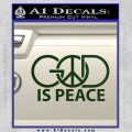 God Is Peace Decal Sticker Dark Green Vinyl 120x120