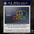 God Is Peace Decal Sticker Glitter Sparkle 120x120