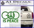 God Is Peace Decal Sticker Green Vinyl Logo 120x97