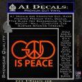 God Is Peace Decal Sticker Orange Emblem 120x120