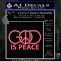God Is Peace Decal Sticker Pink Emblem 120x120