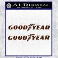 Good Year Tires Goodyear Decal Sticker BROWN Vinyl 120x120