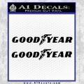 Good Year Tires Goodyear Decal Sticker Black Vinyl 120x120
