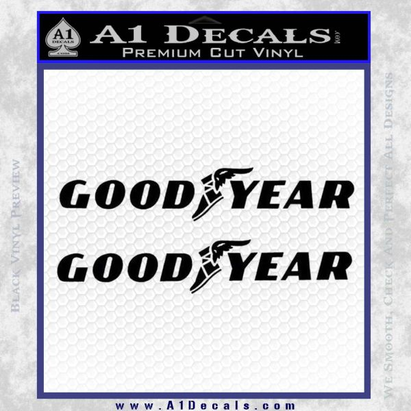 Tires For Cheap >> Good Year Tires Goodyear Decal Sticker » A1 Decals