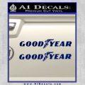 Good Year Tires Goodyear Decal Sticker Blue Vinyl 120x120