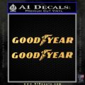 Good Year Tires Goodyear Decal Sticker Gold Vinyl 120x120