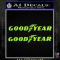 Good Year Tires Goodyear Decal Sticker Lime Green Vinyl 120x120