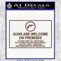 Guns Are Welcome Sticker Decal BROWN Vinyl 120x120
