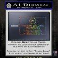 Guns Are Welcome Sticker Decal Glitter Sparkle 120x120
