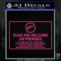 Guns Are Welcome Sticker Decal Pink Hot Vinyl 120x120