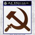 Hammer and Sickle Decal Sticker BROWN Vinyl 120x120