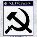 Hammer and Sickle Decal Sticker Black Vinyl 120x120
