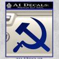 Hammer and Sickle Decal Sticker Blue Vinyl 120x120