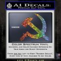 Hammer and Sickle Decal Sticker Glitter Sparkle 120x120