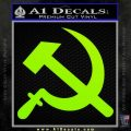 Hammer and Sickle Decal Sticker Lime Green Vinyl 120x120