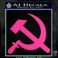 Hammer and Sickle Decal Sticker Pink Hot Vinyl 120x120