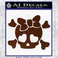 Heart Skull Cross and Crossbones Decal Sticker D2 BROWN Vinyl 120x120