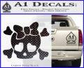 Heart Skull Cross and Crossbones Decal Sticker D2 Carbon FIber Black Vinyl 120x97