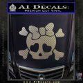 Heart Skull Cross and Crossbones Decal Sticker D2 Carbon FIber Chrome Vinyl 120x120