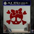Heart Skull Cross and Crossbones Decal Sticker D2 DRD Vinyl 120x120