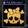 Heart Skull Cross and Crossbones Decal Sticker D2 Gold Vinyl 120x120