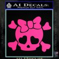 Heart Skull Cross and Crossbones Decal Sticker D2 Pink Hot Vinyl 120x120