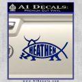 Heathen Jesus Fish Decal Sticker Blue Vinyl 120x120