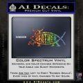 Heathen Jesus Fish Decal Sticker Glitter Sparkle 120x120