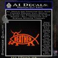 Heathen Jesus Fish Decal Sticker Orange Emblem 120x120