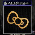 Hello Kitty Bow Tie Only Decal Sticker Gold Metallic Vinyl Black 120x120