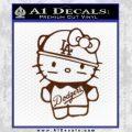 Hello Kitty Dodgers Decal Sticker BROWN Vinyl 120x120