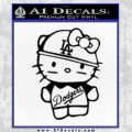 Hello Kitty Dodgers Decal Sticker Black Vinyl 120x120