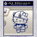 Hello Kitty Dodgers Decal Sticker Blue Vinyl 120x120