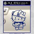 Hello Kitty Dodgers Decal Sticker Blue Vinyl 120x120