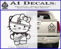 Hello Kitty Dodgers Decal Sticker Carbon FIber Black Vinyl 120x97
