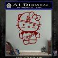 Hello Kitty Dodgers Decal Sticker DRD Vinyl 120x120