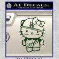 Hello Kitty Dodgers Decal Sticker Dark Green Vinyl 120x120