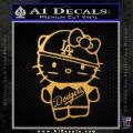 Hello Kitty Dodgers Decal Sticker Gold Vinyl 120x120