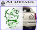 Hello Kitty Dodgers Decal Sticker Green Vinyl Logo 120x97