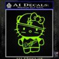 Hello Kitty Dodgers Decal Sticker Lime Green Vinyl 120x120