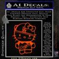 Hello Kitty Dodgers Decal Sticker Orange Emblem 120x120