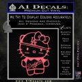 Hello Kitty Dodgers Decal Sticker Pink Emblem 120x120