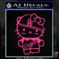 Hello Kitty Dodgers Decal Sticker Pink Hot Vinyl 120x120